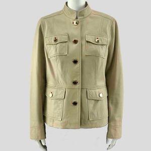 Tory Burch Tan Leather Jacket/Blazer